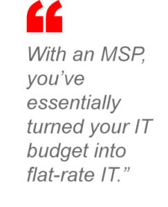 Managed IT services quote.