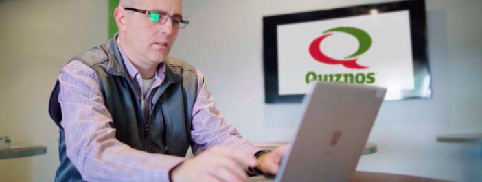 Businessman on laptop